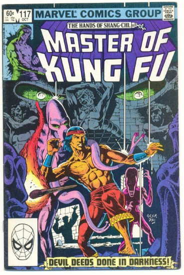 Master Of Kung Fu #117 Devil Deeds Done In Darkness Gene Day Art !