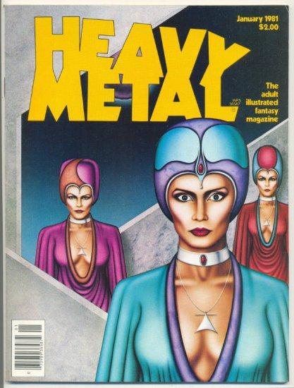 Heavy Metal Jan 1981 Corben Moebius Adult Sci-Fi Classic VF !