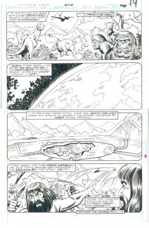 Fantastic Four #316 Pg 19 Pollard Sinnott Origins & Aliens !