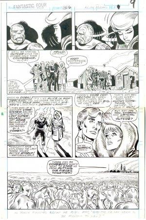 Fantastic Four #316 Pg 9 Pollard Sinnott Crystal & The Inhumans !