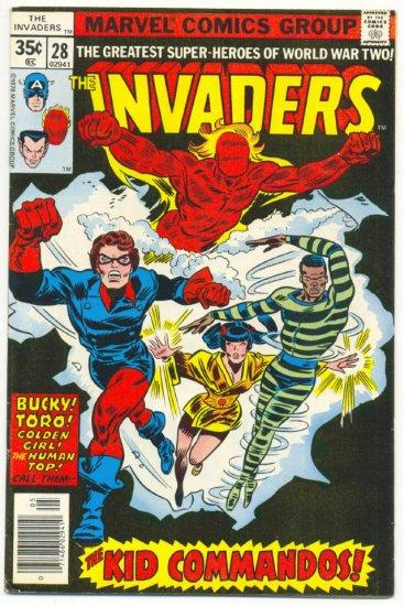 The Invaders #28 Bucky & The Kid Commandos HTF 1978 !
