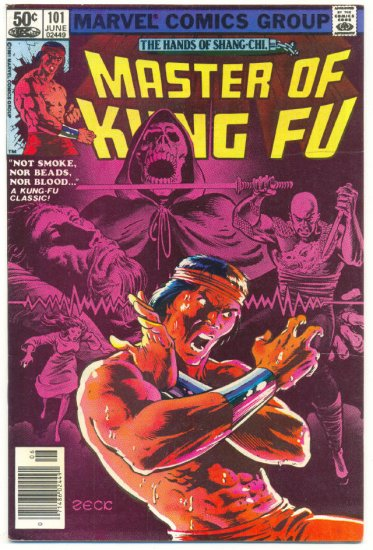 Master Of Kung Fu #101 Not Smoke, Nor Beads, Nor Blood Zeck Art !