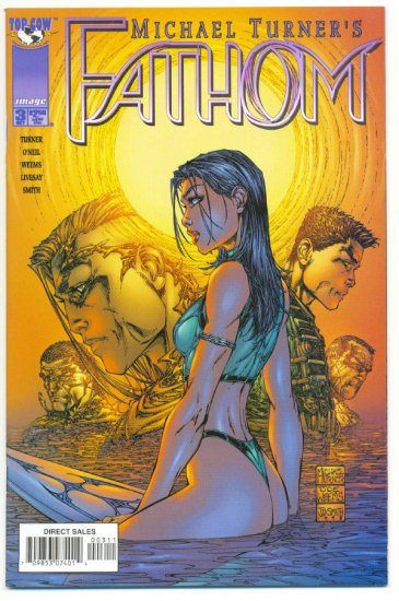 Michael Turner's Fathom #3 Joker Top Cow 1999 NM-