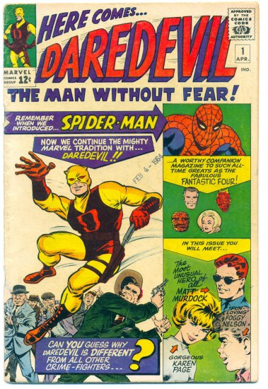 Daredevil #1 Silver Age Stan Lee & Jack Kirby Key Issue 1964
