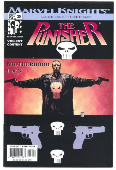 The Punisher #20 Ennis/Dillon The Brotherhood pt 1 Marvel Knights