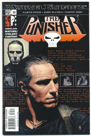 The Punisher #35 Marvel Knights VFNM Wolverine DD & Spidey