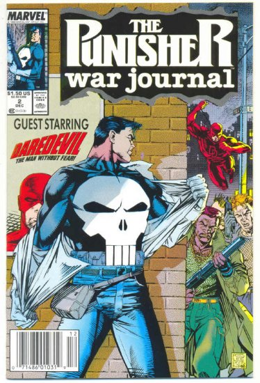 The Punisher War journal #2 Daredevil Crossover Jim Lee Art