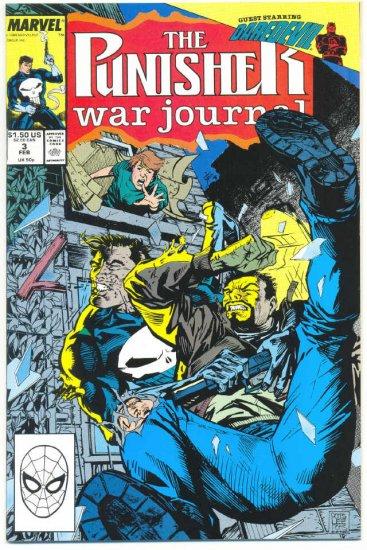 The Punisher War journal #3 Daredevil Crossover Jim Lee Art !