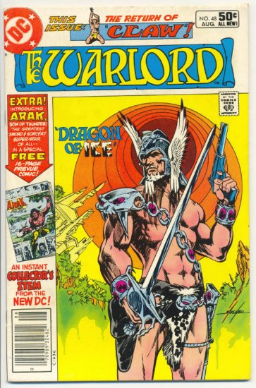 The Warlord #48 Dragon Of Ice Mike Grell Classic !
