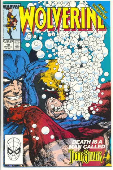 Wolverine #19 Tigershark! Byrne Art VFNM