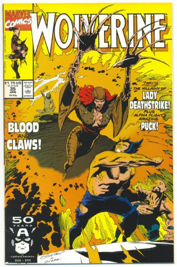 Wolverine #35 Blood And Claws Silvestri art NM Classic!