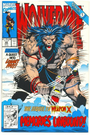Wolverine #48 Sequel To Weapon X Silvestri art VFNM !