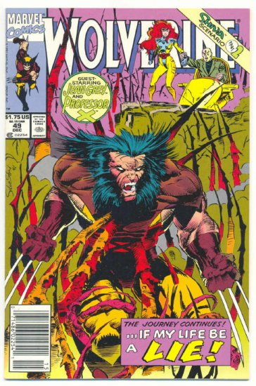 Wolverine #49 If My Life Be A Lie...  Silvestri Art VFNM