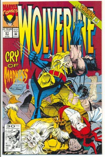 Wolverine #51 Cry Of Madness Kubert Art NM !