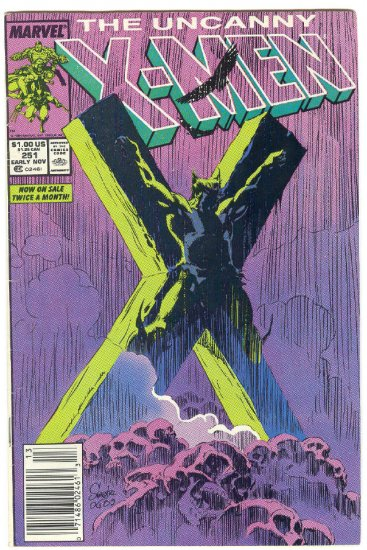 Uncanny X-Men #251 Nailed To The Cross! Silvestri Art
