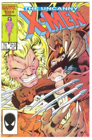 Uncanny X-Men #213 Wolverine & Sabretooth Throwdown !