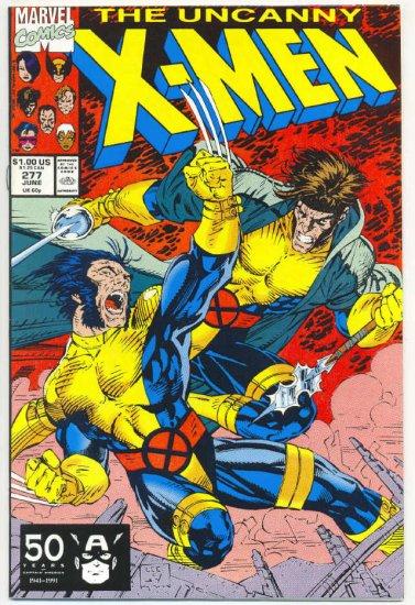 Uncanny X-Men #277 Free Charley Jim Lee Art VFNM