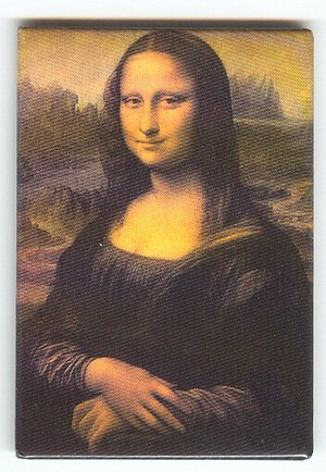Mona Lisa by Da Vinci fridge Magnet