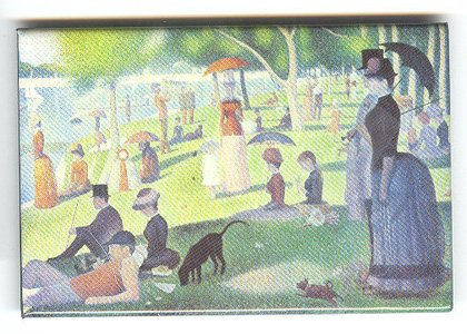 Seurat fine art image on fridge magnet