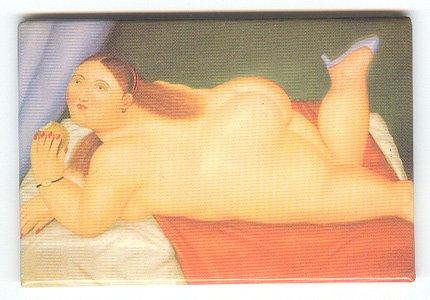 Fernando Botero fine art image on fridge magnet