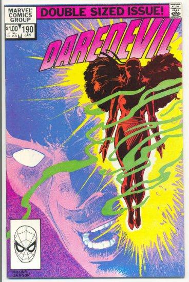 Daredevil #190 Elektra Is Alive Miller/Janson Classic!