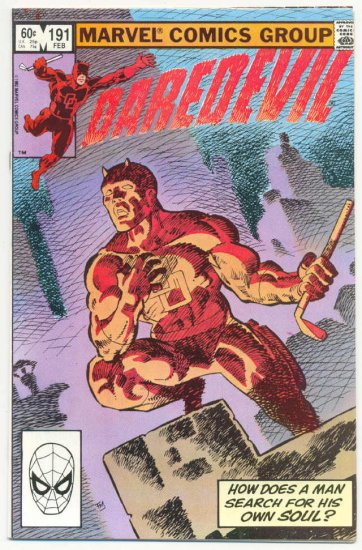 Daredevil #191 How Does A Man Search For His Soul? Frank Miller Classic!