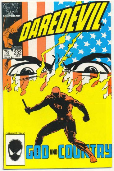 Daredevil #232 God And Country Miller Mazzucchelli Born Again series!