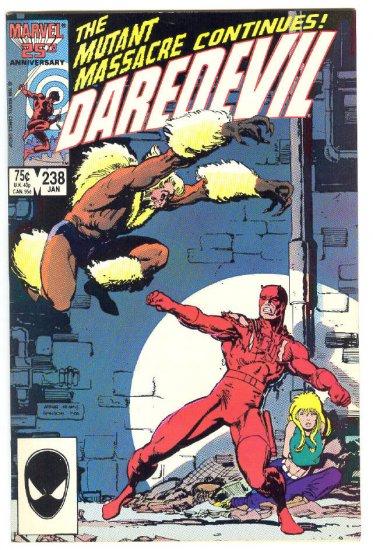 Daredevil #238 Sabretooth Mutant Massacre Crossover