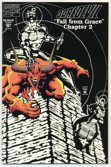 Daredevil #321 Fall From Grace Glow In The Dark Cover !