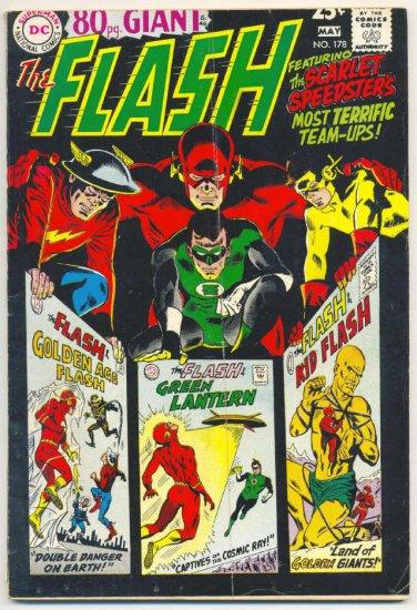 Flash #178 HTF 1968 80 Page Giant Fine !