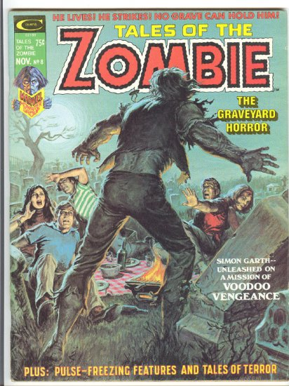 Tales Of The Zombie #8 The Graveyard Horror HTF 1974 Magazine