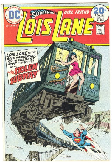 Superman's Girlfriend Lois Lane #137 HTF Last Issue 1974 !