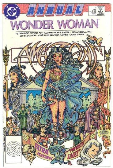 Wonder Woman Annual #1 Perez Adams Bolland... Art Classic !