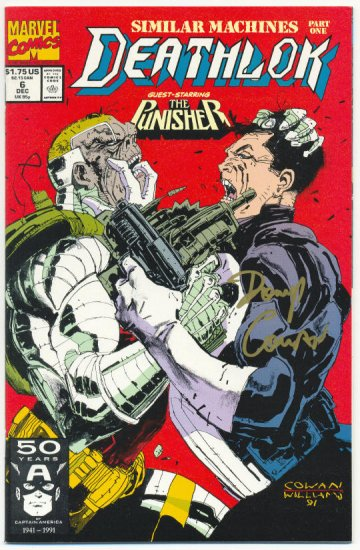 Deathlok #6 vs The Punisher Signed By Denys Cowan NM