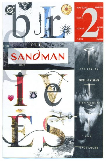 Sandman #42 Brief Lives Gaiman & Thompson 1992 NM- !