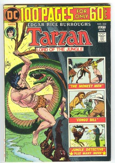 Tarzan #232 1974 100 Page Super Spectacular HTF !