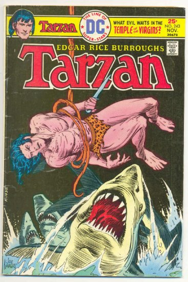 Tarzan #243 Temple Of The Virgins 1975 Kubert !