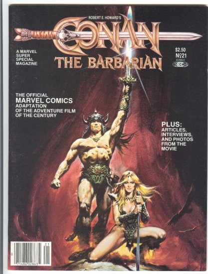 Marvel Super Special #21 Conan The Barbarian VF HTF Schwarzeneggar!