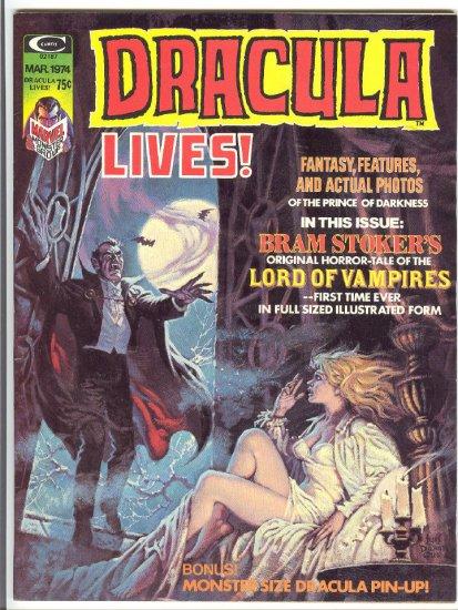 Dracula Lives #5 Very HTF 1974 Horror Magazine !