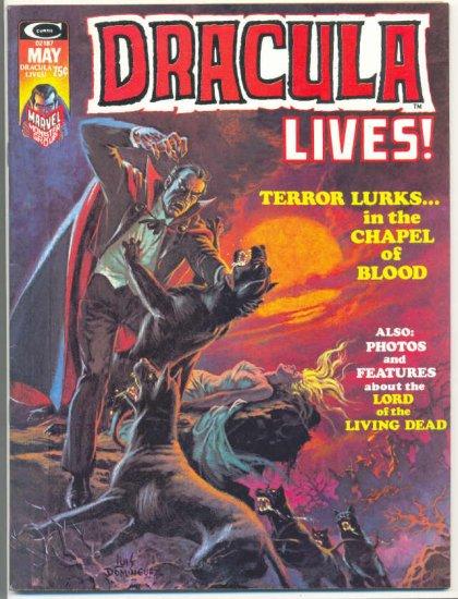 Dracula Lives #6 Very HTF 1974 Horror Magazine !