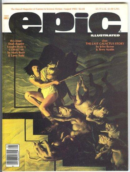 Epic #31 Byrne's Last Galactus Story 1985 HTF !