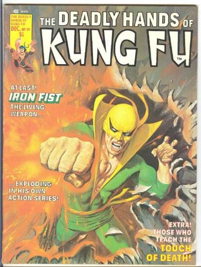 Deadly Hands Of Kung Fu #19 1st Appearance White Tiger HTF 1975 Magazine