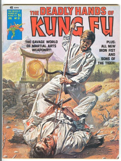 Deadly Hands Of Kung Fu #21 Iron Fist! HTF 1976 Magazine