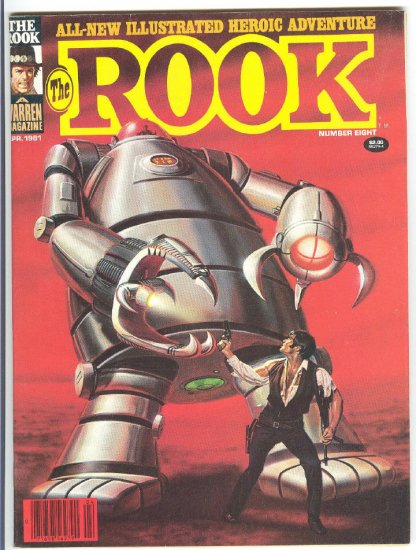 The Rook #8 The Master Of Time 1981 Warren Magazine Larkin Cover!