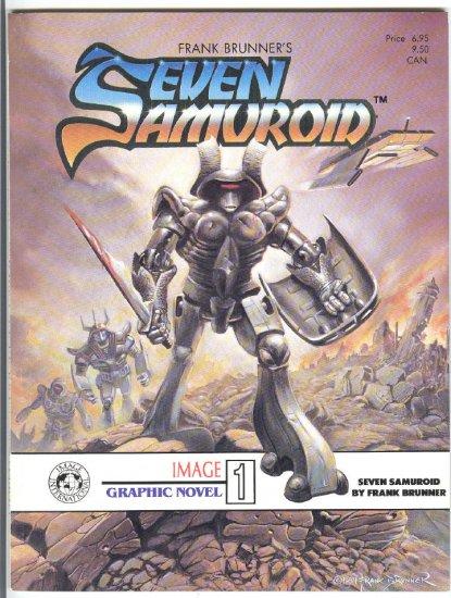 Frank Brunner's Seven Samuroid Very HTF Graphic Novel VFNM