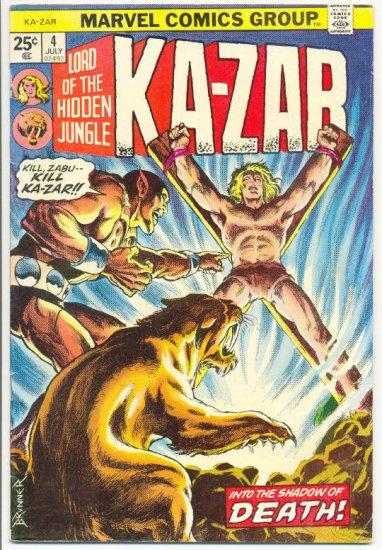 Ka-Zar #4 Into The Shadow Of Death Brunner Art 1974 !