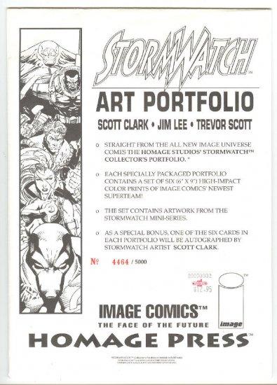 Stormwatch Art Portfolio Jim Lee Scott Clark Ltd Edition !