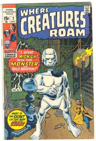 Where Creatures Roam #2 HTF 1970 Horror Ditko !