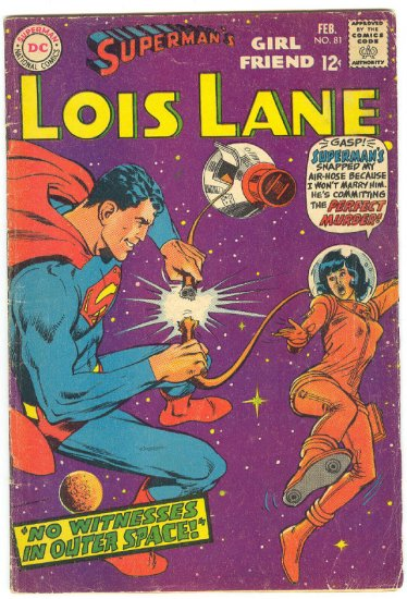 Superman's Girlfriend Lois Lane #81 HTF 1968 Neal Adams Cover !