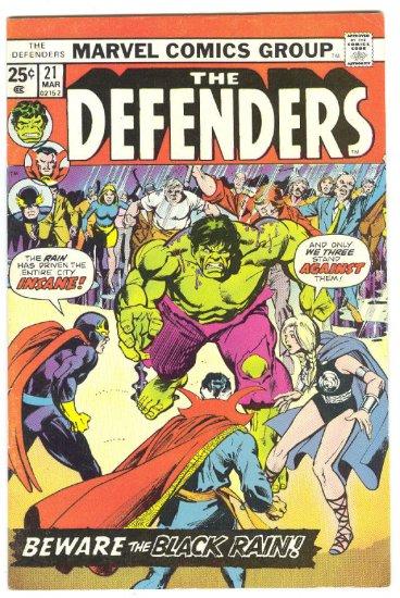 Defenders #21 Beware The Black Rain 1st App The Headmen !